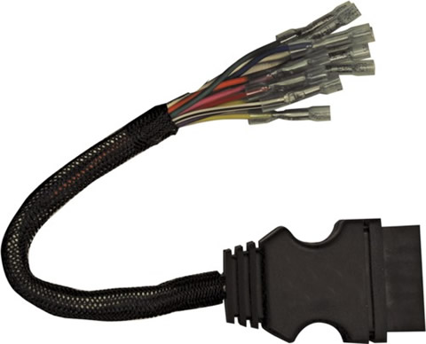 (1304744) boss harness repair kit, 13-pin, plow side fisher plow wire harness pigtails #5