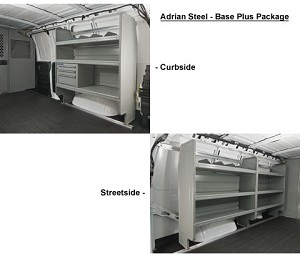 Adrian Steel Base Commercial Van Package