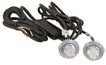 (8891215) Clear LED Strobe Lights w/2 In-Line Flashers, 15' Cable