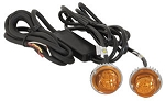 (8891216) Amber LED Strobe Lights w/2 In-Line Flashers, 15' Cable