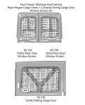 (60-TRMHSDR) Adrian Steel Ford Transit Med/High Roof, Curbside Sliding Door & Rear Doors Wire Window Screen Kit
