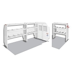 (600-8110R) Weather Guard Commercial Shelving Van Package, Full-Size, Ford Transit, 130in WB