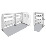 (600-8210L) Weather Guard Commercial Shelving Van Package, Mid-Roof, Full-Size, Ford Transit, 148in WB