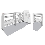 (600-8410X) Weather Guard Commercial Shelving Van Package, High-Roof, Full-Size, Ford Transit, 170in WB