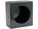 (LB663SL) Light Box - Single Round, Black Powder Coated Steel with Side Light