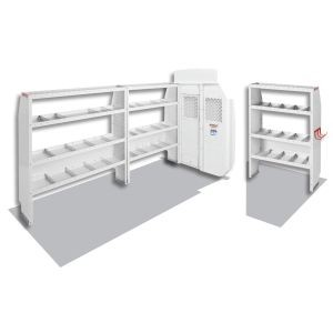 (600-8410L) Weather Guard Commercial Shelving Van Package, High-Roof, Full-Size, Ford Transit, 148in WB