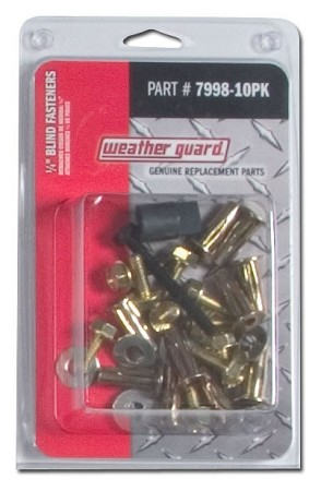 "(7998-10PK) Weather Guard 1/4"" Blind Fasteners"