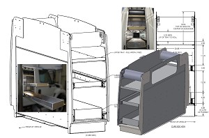 Compartment with Slide Out Trays